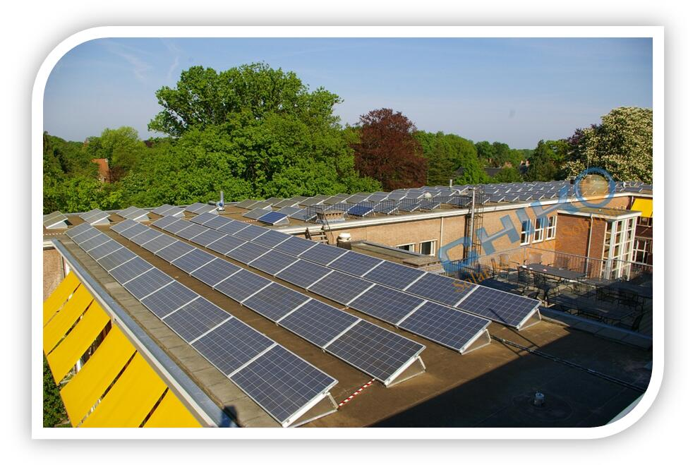Commercial Warehouse Solar Power Plant 40kw Flat Roof