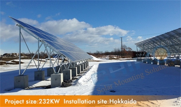 CHIKO Ground mounting U2V design widely used for projects in Hokkaido Japan